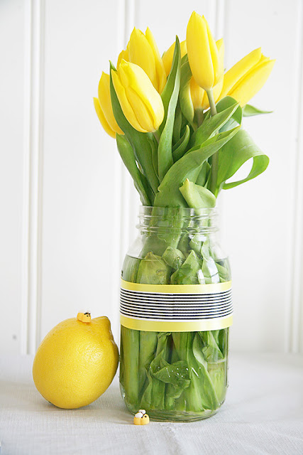 Bee themed party and shower decor for spring.