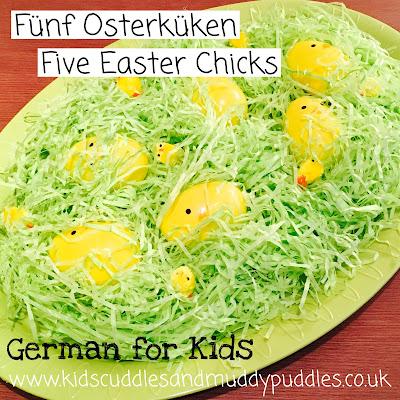 German for Kids: Fünf Osterküken - Five Easter Chicks