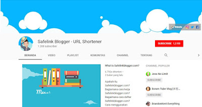 Subscribe Channel Youtube Safelink Blogger