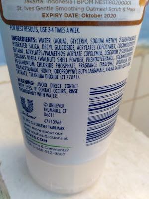 review scrub wajah st ives oatmeal untuk kulit kering