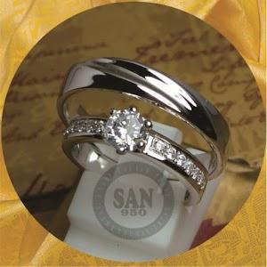 cincin emasputih paladium P5839