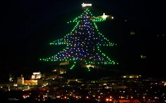 Größter Tannenbaum.Gubbio Und Der Größte Tannenbaum Der Welt