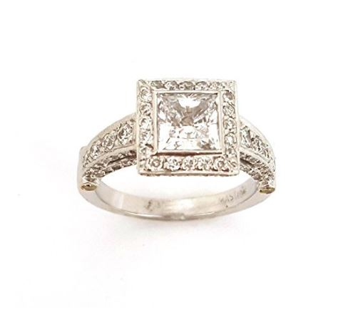 square cut halo engagement rings azring