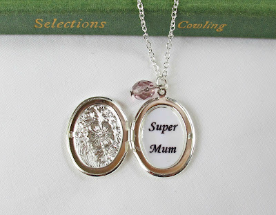 super mum locket mom necklace two cheeky monkeys etsy mother's day
