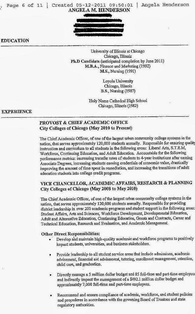 sample resume on oice protocols