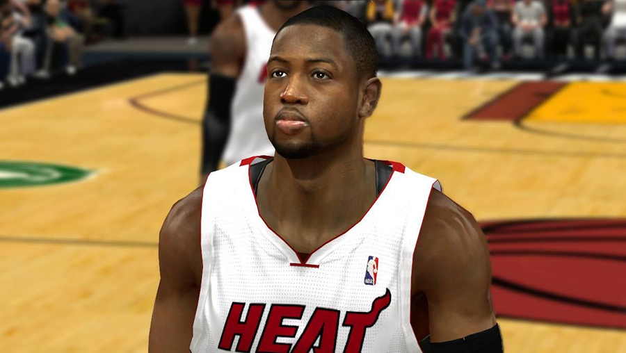 NBA 2K14 Dwyane Wade HD Face Mod