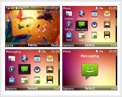 Kupu theme for Nokia Asha 302, Asha 201, Asha 200, C3-00, X2-01,