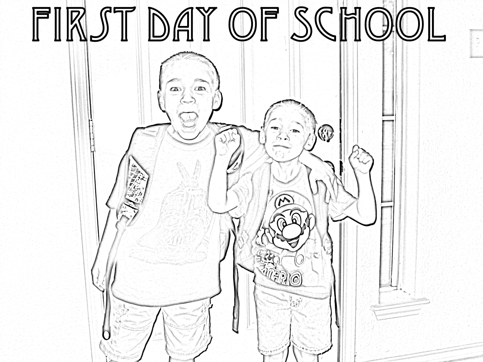 turn pictures into coloring pages - photo#6