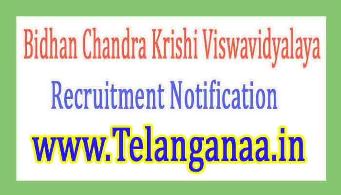 Bidhan Chandra Krishi ViswavidyalayaBCKV Recruitment Notification 2017