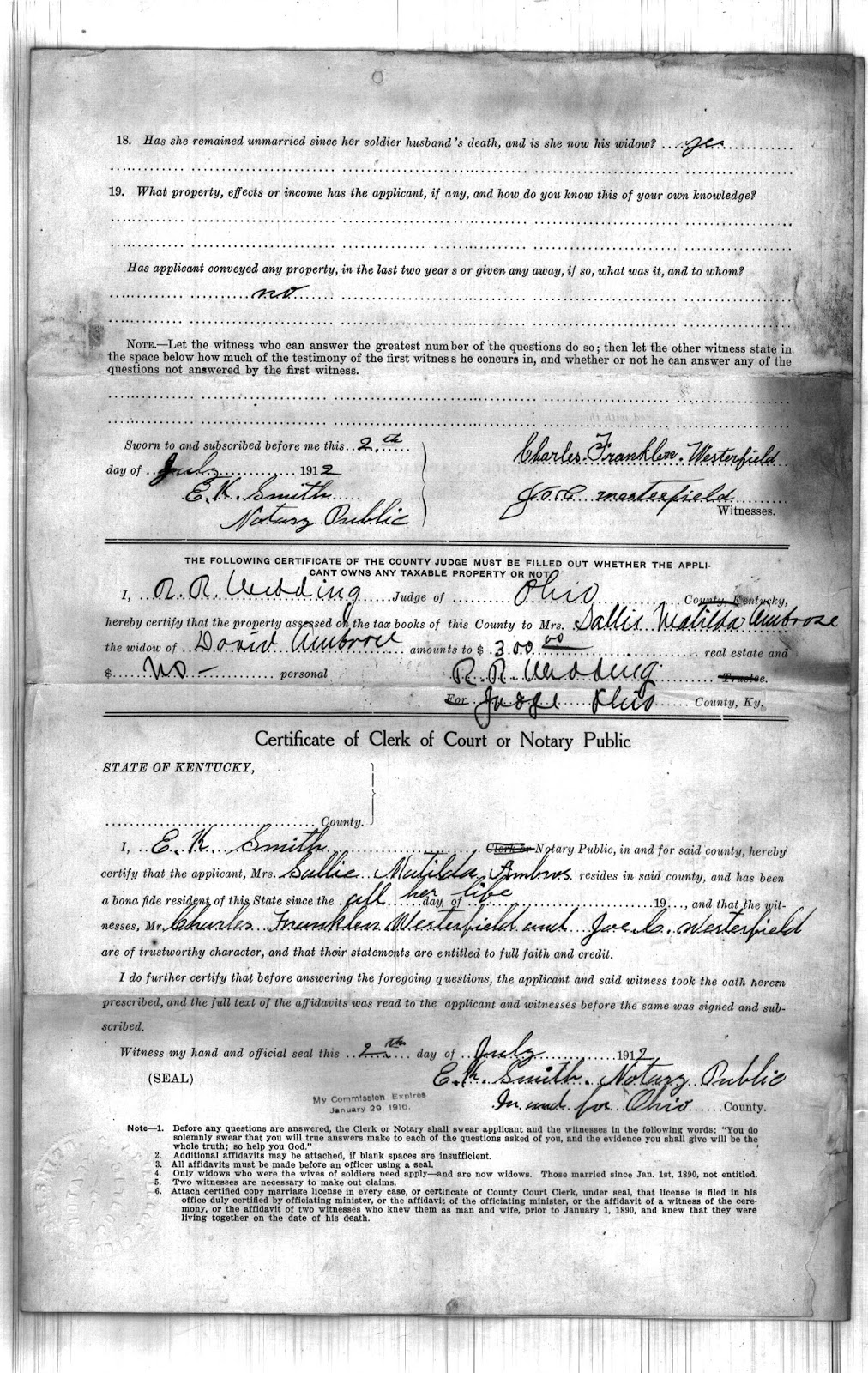 Ohio county kentucky history july 2017 note that the names of the witnesses on her application for pension were named westerfield charles franklin and joe c and state that they had served with xflitez Gallery