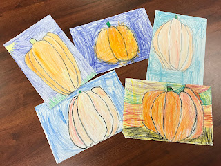 Pumpkin Directed Drawings