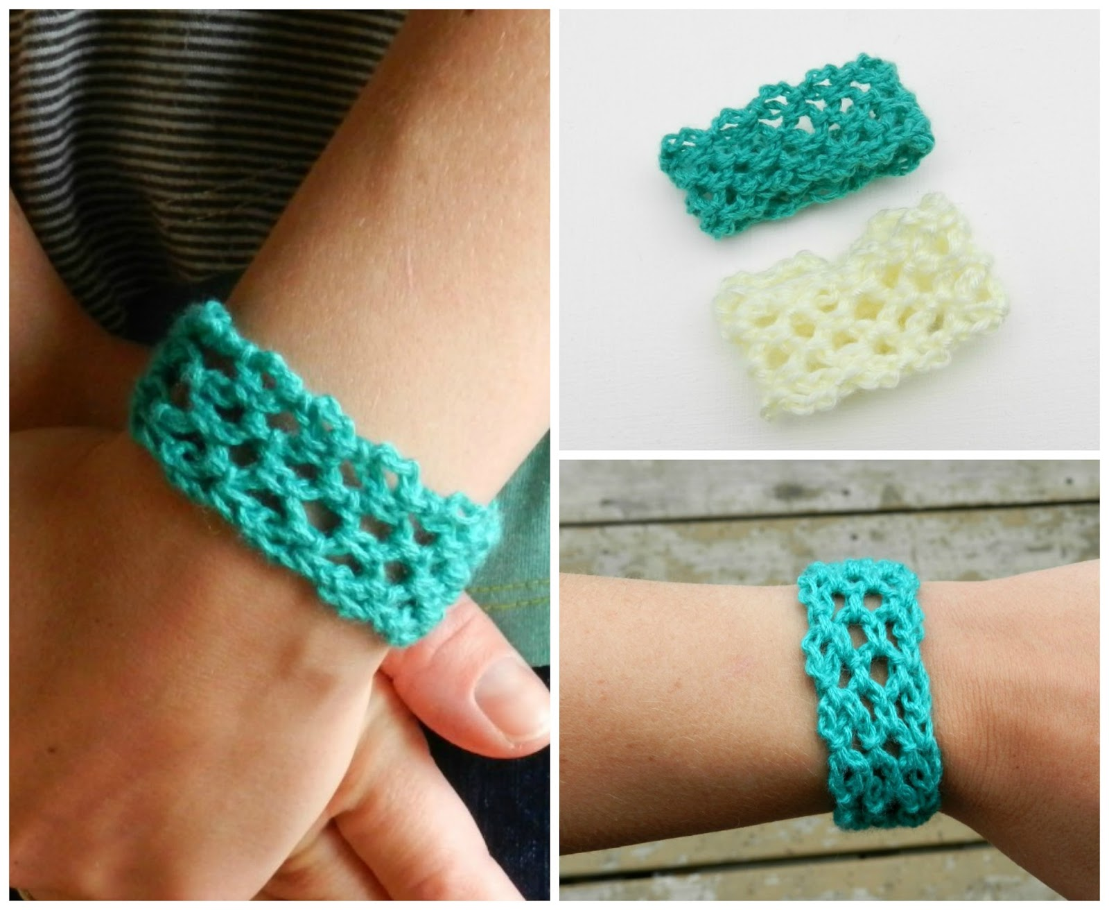 Easy Crochet Lacey Cuff (growcreative)