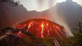 Mount Kelud of East Java Province Indonesia