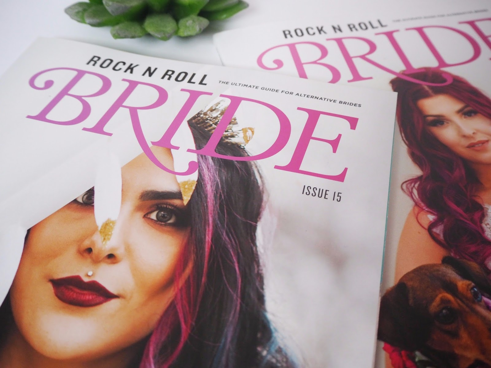 rock n roll bride flatlay