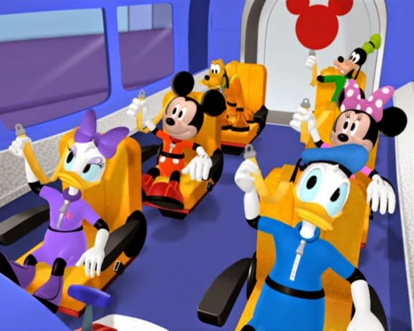 MINNIE: We're going to the moon.