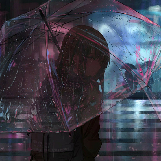 Girl in The Rain Wallpaper Engine