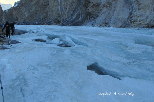 Ice walk on Chadar Trek Zanskar River Leh Ladakh India