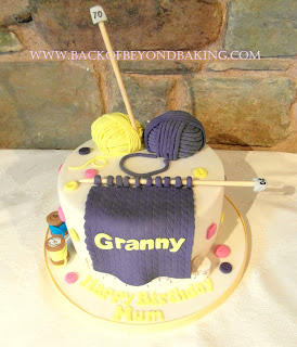 needlework birthday cake