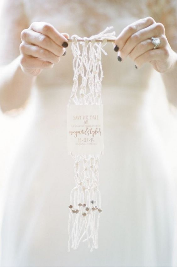 macrame save the date - decora tu boda con macrame