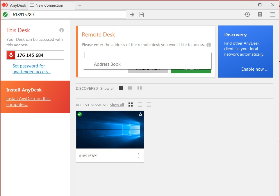Download and explain AnyDesk remote control program - in for geek