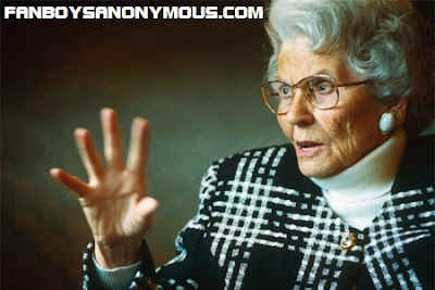 Senile political activist for film and television censorship Mary Whitehouse