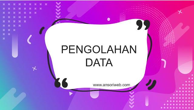 Pengolahan Data, Njlimet Tapi Mudah Juga Sebenarnya