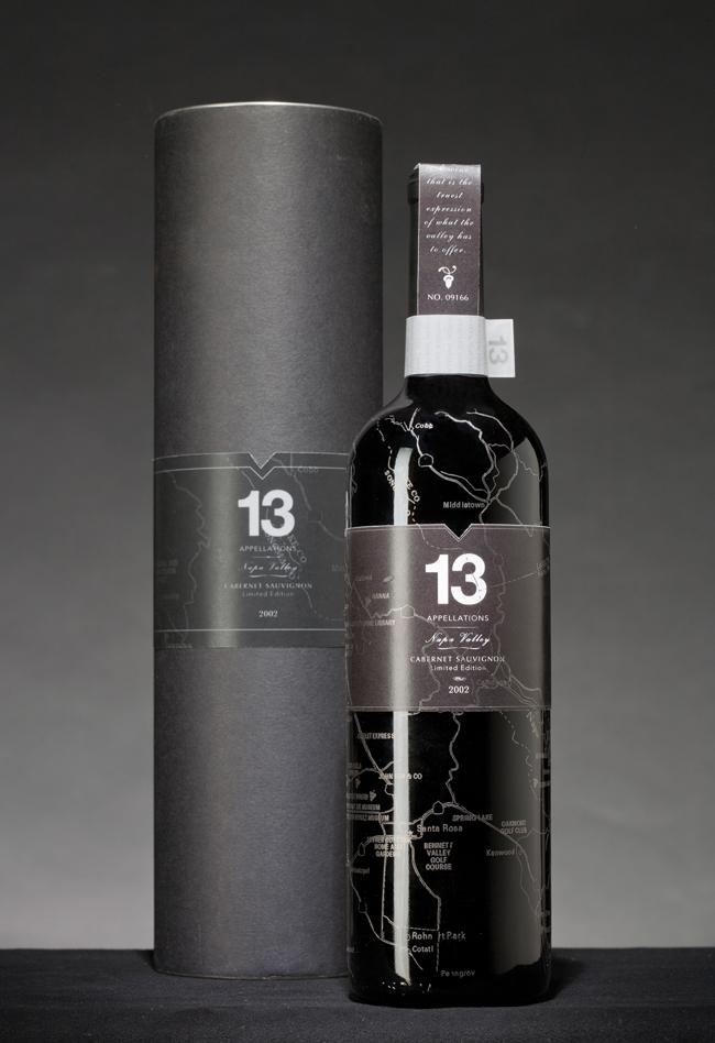 13 Appelations Wine Bottle Design by Wei Sun