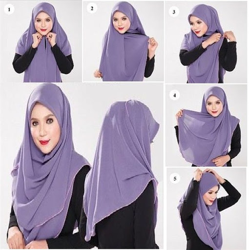 38 Model Tutorial Hijab Segi Empat Modis Simple Elegan 2017 2018