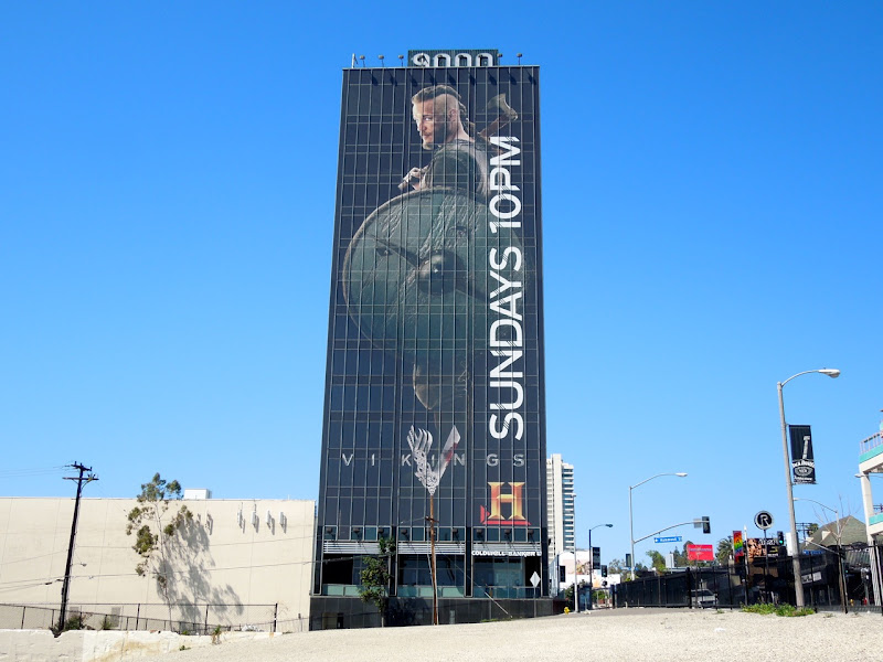 Giant Ragnor Lothbrok Vikings billboard Sunset Strip