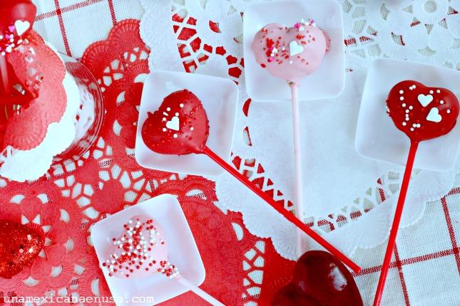Corazones de chocolate para el Día de San Valentín