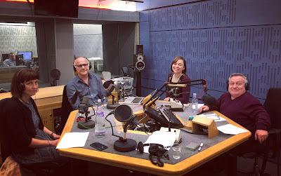 L-R Nicola Werenowska, Stephen Unwin, Kate Monaghan, Simon Minty in the BBC Radio studio.