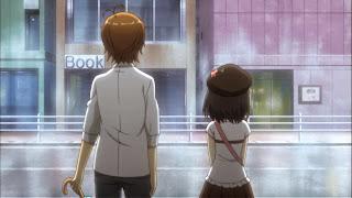 Screen na którym Youto Yokodera i Tsukiko Tsutsukakushi są na spacerze