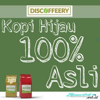Discoffeery, Kopi Hijau 100% Asli