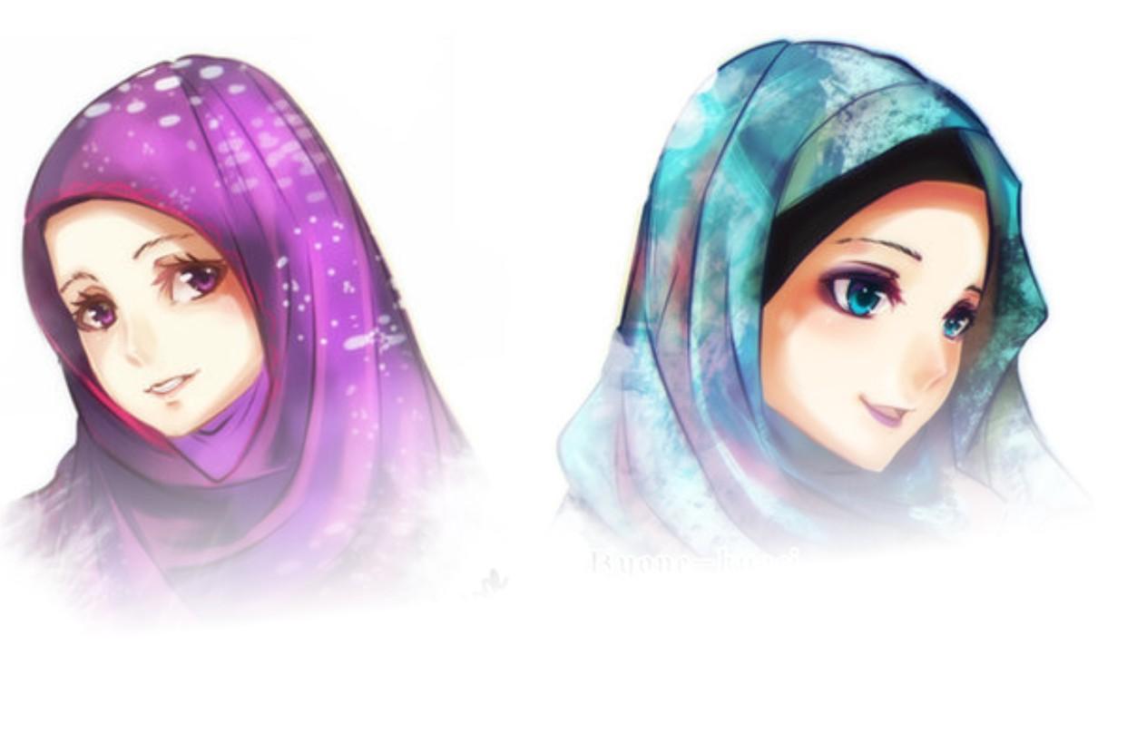 Gambar Animasi Dp Bbm Wanita Muslimah Terlengkap Display Picture Update