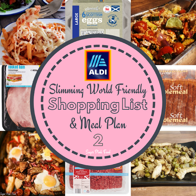 Slimming World meal plan 7 day with shopping list aldi  free