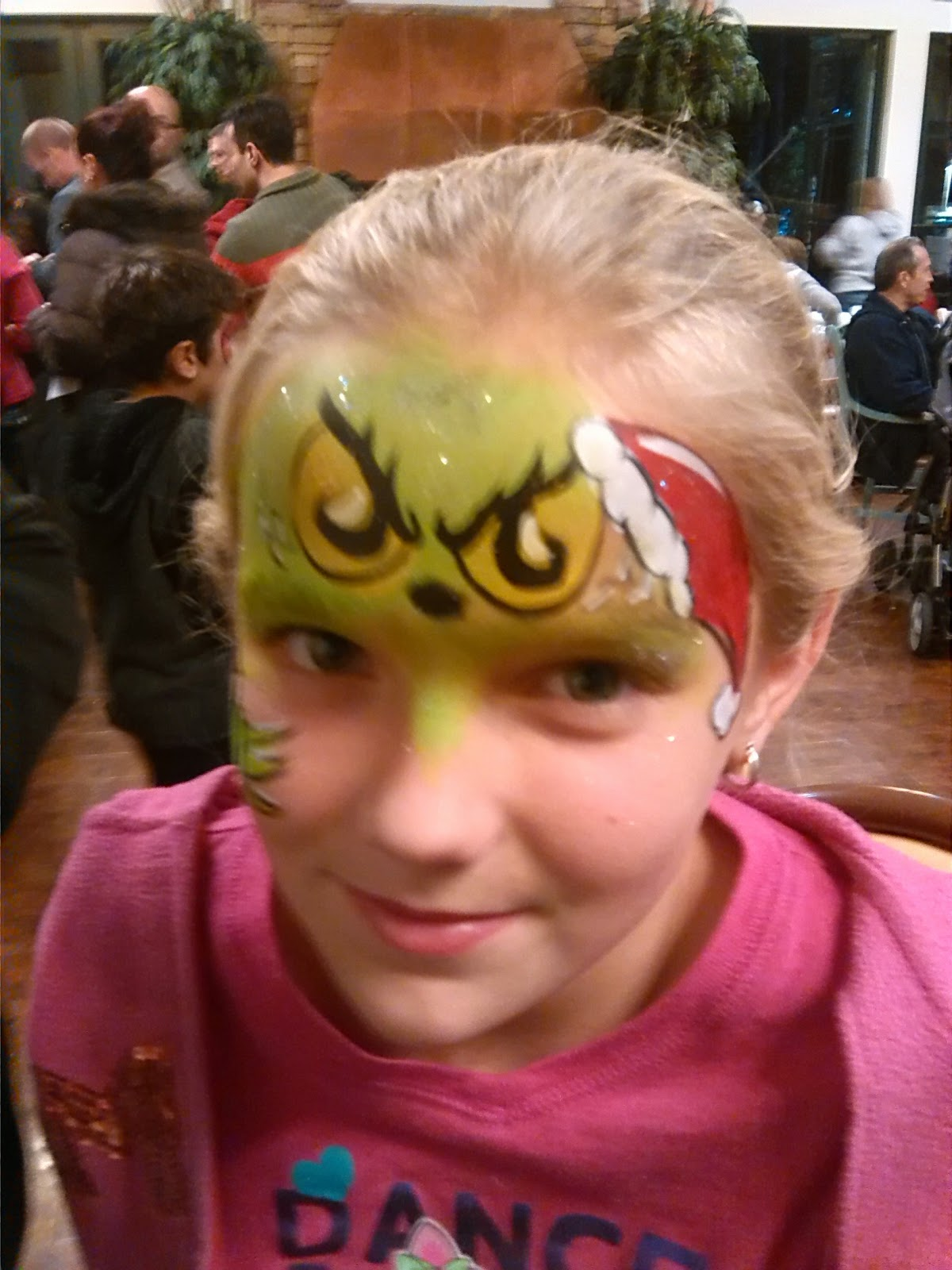 Grinch Face Painting Corporate Parties