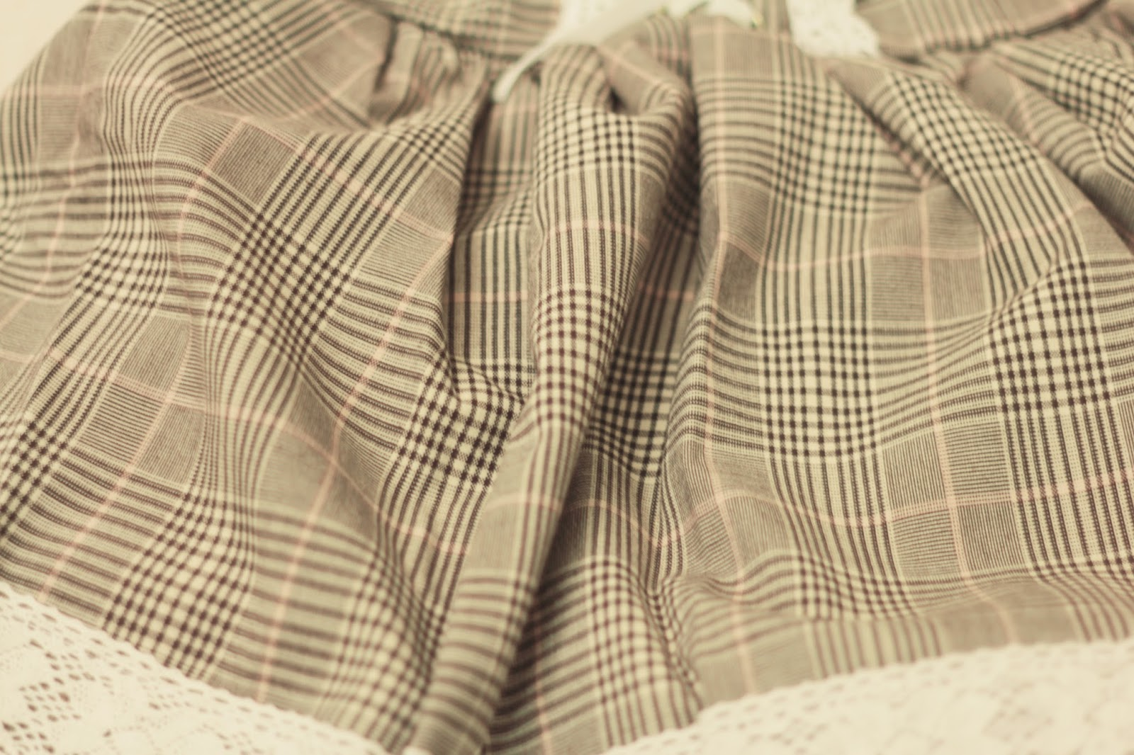 cute check suspender skirt gyaru style taobao haul uk blog