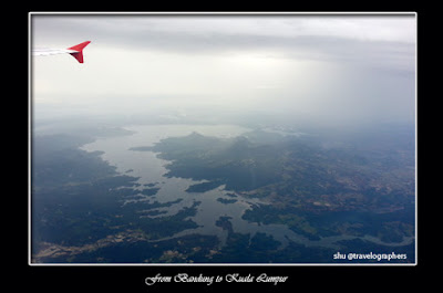 Senja, Sunset From Airplane, Air Asia, Purwakarta, Gunung Lembu, Jatiluhur