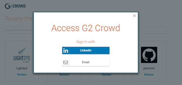 Review on G2 crowd using LinkedIn