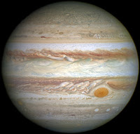 A modern image of Jupiter from the Hubble telescope  shows the belts Zucchi reputedly saw in 1630