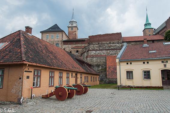 Fortaleza de Akershus en Oslo. Noruega