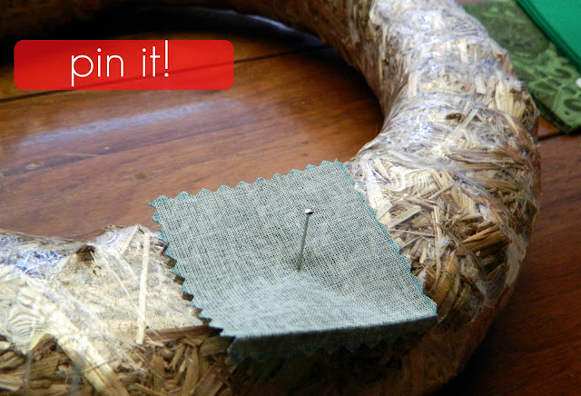 fabric wreath how to