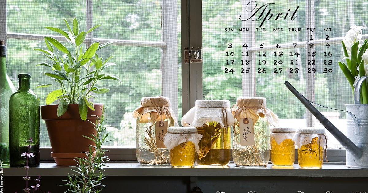 Desktop Calendar April 2016 circa home living: april 2016 desktop calendar