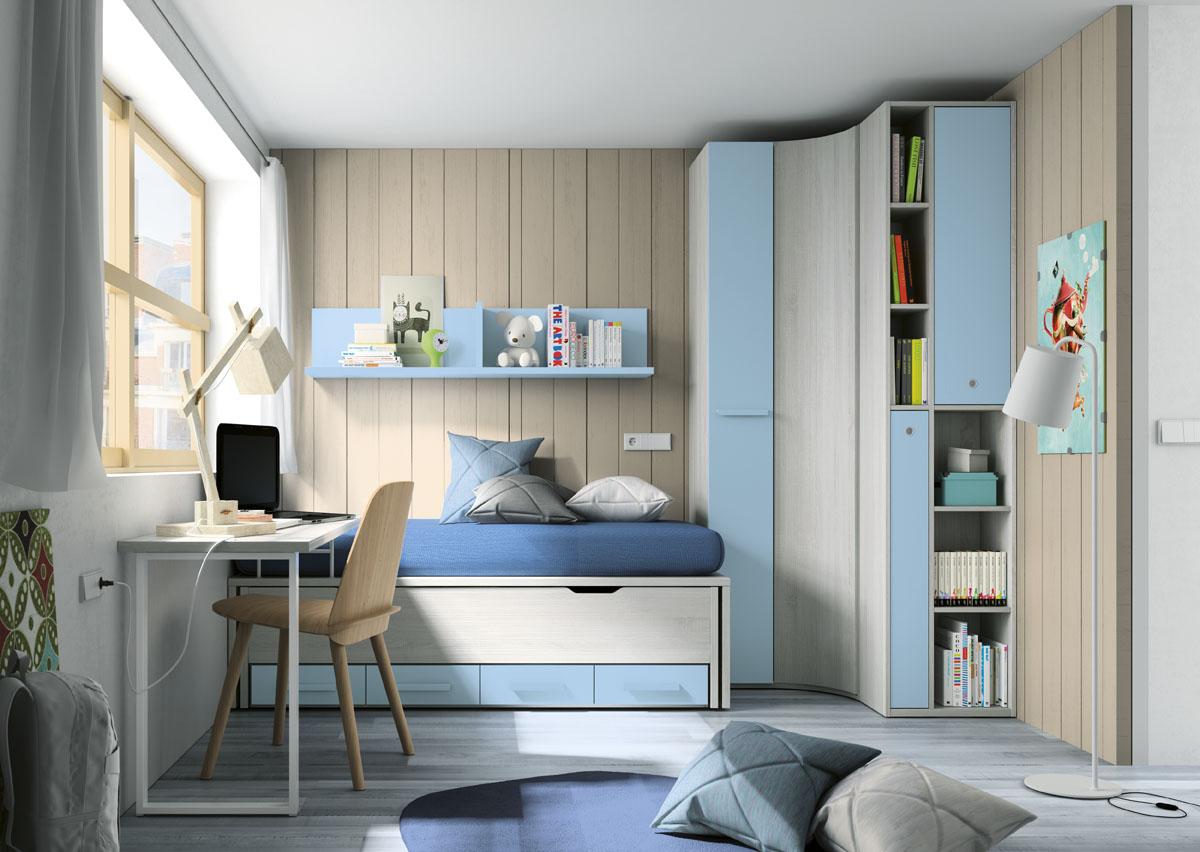Dormitorio juvenil compacto 1962 for Armarios para dormitorios juveniles