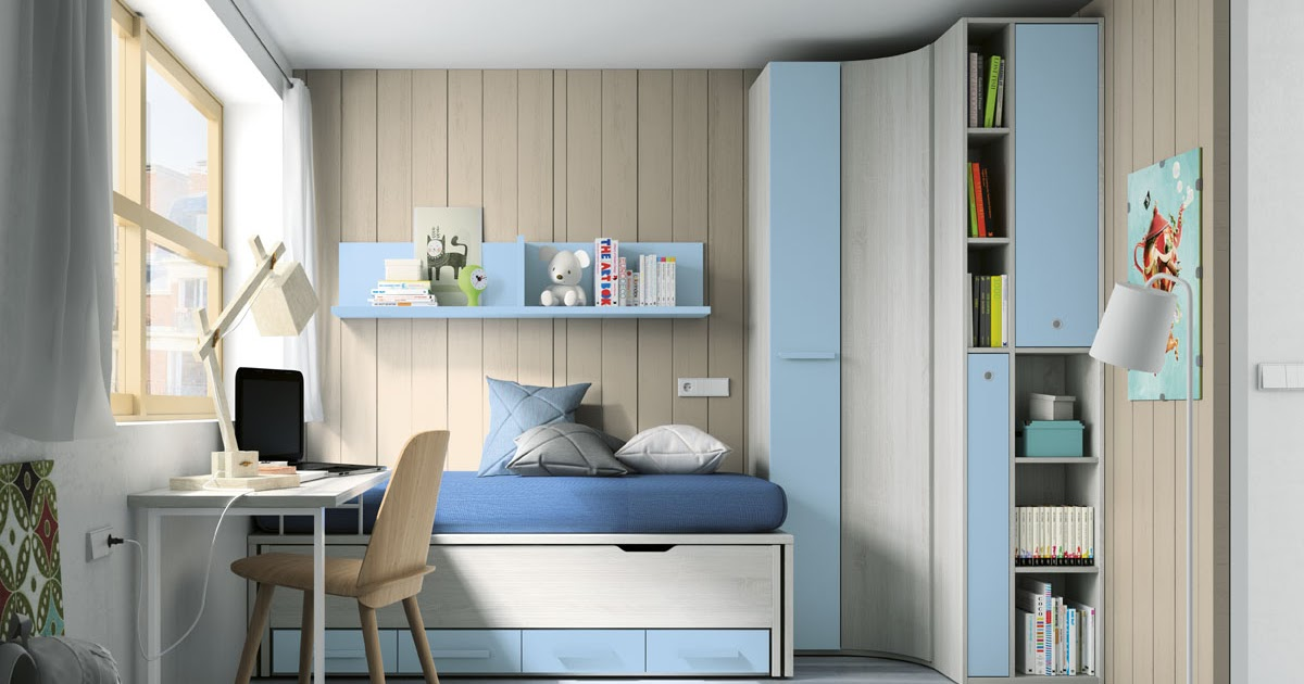 Dormitorio juvenil compacto 1962 for Dormitorios juveniles sin armario
