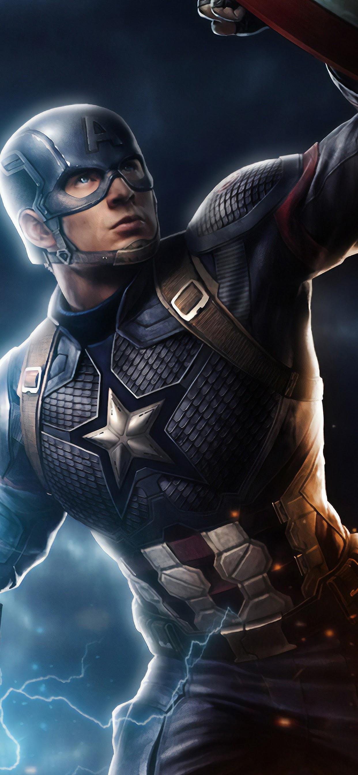 Avengers Endgame Captain America Mjolnir Hammer Lightning