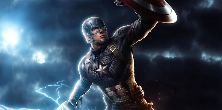 Captain America Mjolnir Wallpaper