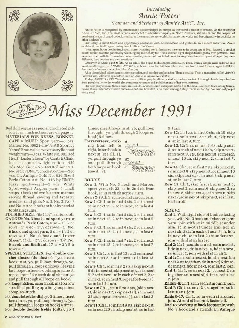 Miss December 1991 - The Antebellum Collection - Annie Potter