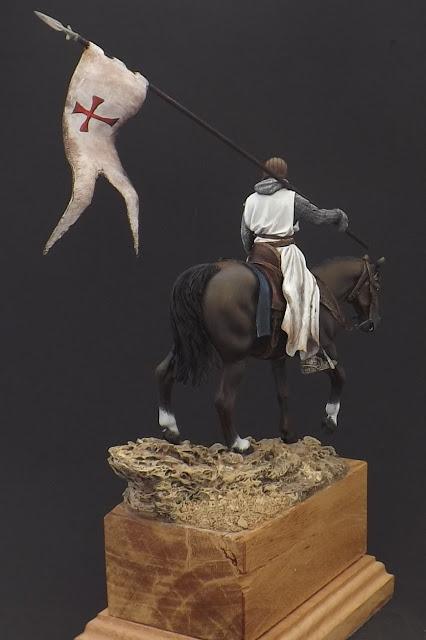 Templar Knight on Horseback c.XI - Andrea Miniatures 90mm Templar%2B6