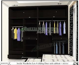 Dalam lemari full plafon minimalis cabinet unit Lex